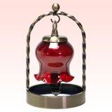 被せガラスミニランプセット|スズラン 銅赤/クリア(白・ピンク点)