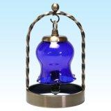被せガラスミニランプセット|スズラン ルリ/クリア(白・水色点)